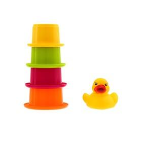 Игрушки для купания «Уточка со стаканчиками», 5 предметов