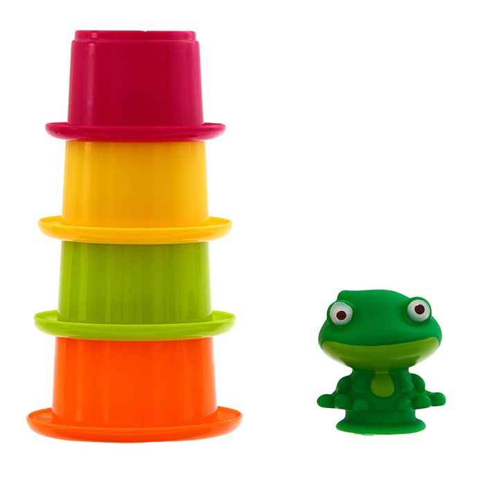 Игрушки для купания «Лягушонок со стаканчиками» - фото 105534068
