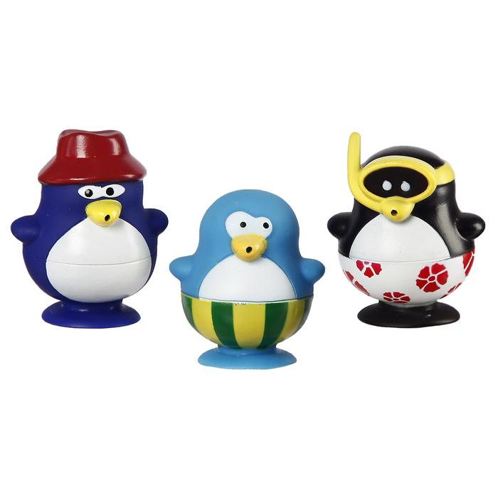 Игрушки для купания «Весёлые пингвины 1», брызгалки, на присоске