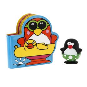 Игрушки для купания «Весёлые пингвины» с книжкой, на присоске