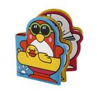 Игрушки для купания «Весёлые пингвины» с книжкой, на присоске - фото 105534087