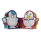 Игрушки для купания «Весёлые пингвины» с книжкой, на присоске - фото 105534088