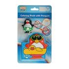 Игрушки для купания «Весёлые пингвины» с книжкой, на присоске - фото 105534090