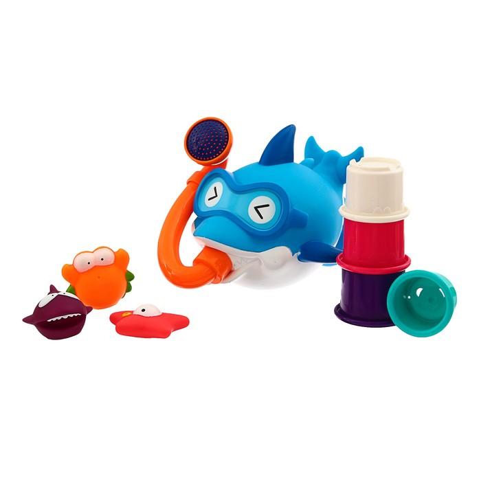 Игрушки для купания «Акула в маске» с лейкой + стаканчики