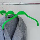 Вешалка-плечики с антискользящим покрытием, 32×1×21 см, цвет зёленый