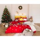 Постельное бельё «Экономь и Я» Новогодние подарки 1,5 сп. 143×210 см, 150×210 см, 50×70 - 2 шт., микрофайбер, 75 г/м²