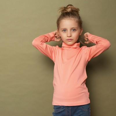 Водолазка для девочки, рост 98 см, цвет персиковый 191-318-03