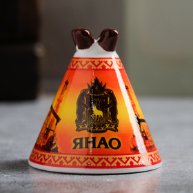 Колокольчик в форме чума «ЯНАО. Нефтяная вышка» в Донецке