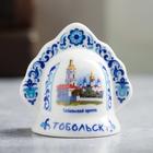 Колокольчик в виде кокошника «Тобольск» (Тобольский Кремль), 5.5 х 5.5 см