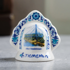 "Bell in the form of kokoshnik ""Tyumen"" (bridge of lovers), 5.5 x 5.5 cm"