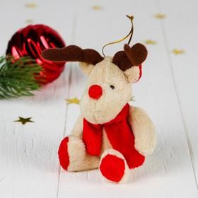 Мягкая игрушка-подвеска 'Северный олень в шарфе' цвета МИКС Ош