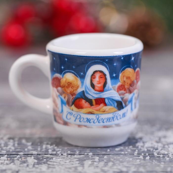 """Кружечка для святой воды """"Мария с младенцем"""", 5,5 х 4 х 3 см"""