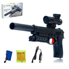 Скорострельный автоматический пистолет М92, стреляет гелевыми пулями, работает от аккумулятора Ош