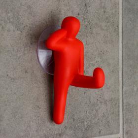 Крючок на вакуумной присоске «Каратист», цвет МИКС