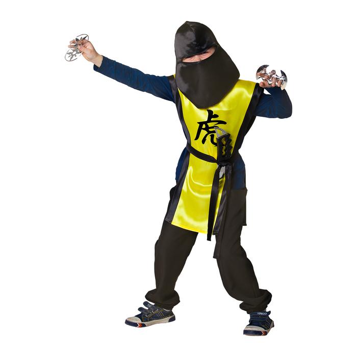 """Карнавальный костюм """"Ниндзя: Жёлтый тигр"""" с оружием, р-р 34, рост 134 см - фото 686753790"""