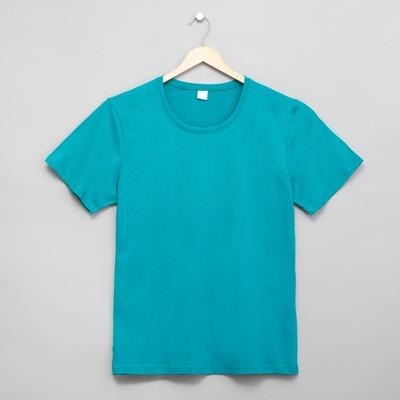 Футболка женская цвет голубой, р-р 52
