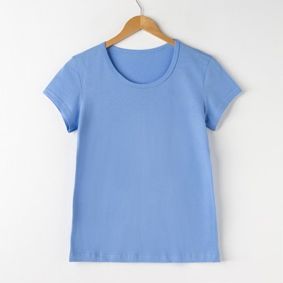 Футболка женская цвет светло-синий, р-р 52