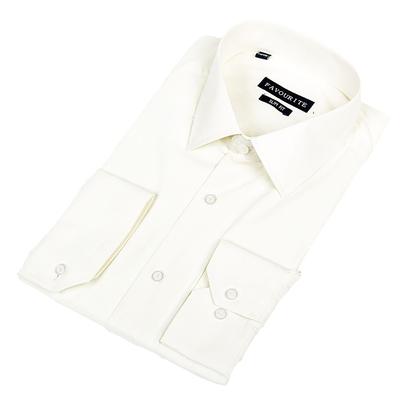 Сорочка приталенная мужская  R716006z_FAV цвет шампань, р-р 44