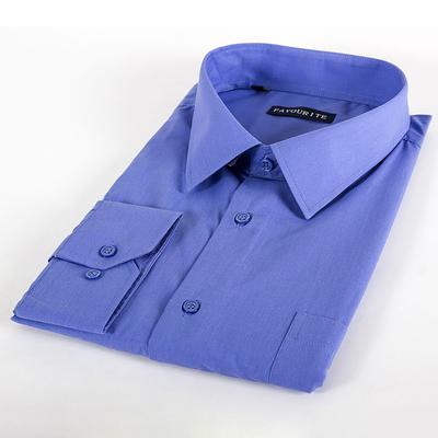 Сорочка приталенная мужская  GDF0401_FAV цвет синий, р-р 48