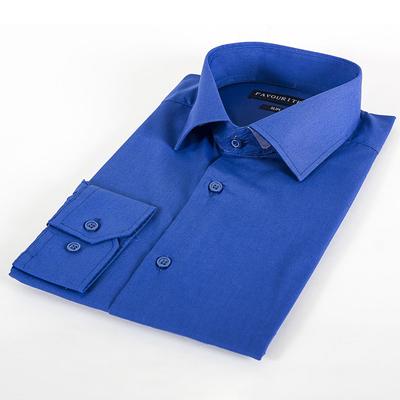 Сорочка приталенная мужская  RDF0402_FAV цвет синий, р-р 39