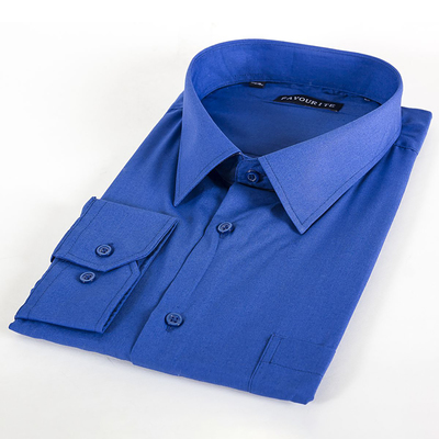 Сорочка классическая мужская  GDF0402_FAV цвет синий, р-р 49