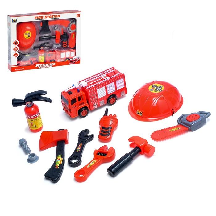 Набор пожарного «Пожарная станция». 11 предметов цвета МИКС
