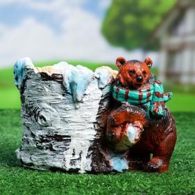"""Фигурное кашпо """"Медведь с шарфом"""""""
