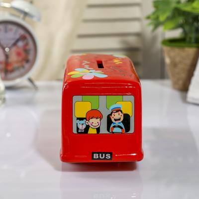 "Копилка керамика ""Двухъярусный автобус"" МИКС 9х18х8 см"