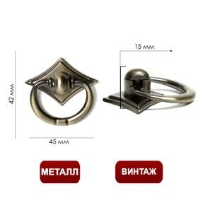 Ручка кнопка TUNDRA РК028АВ, цвет бронза