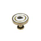 Ручка кнопка РК021OAB, цвет античная бронза