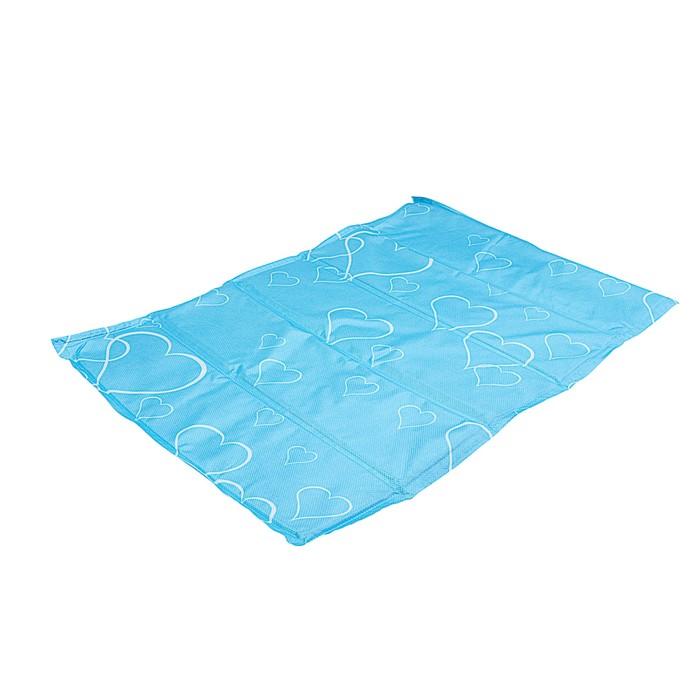 "Охлаждающий коврик ""Сердца"", 60 х 40 см, голубой"