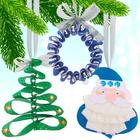 Набор для создания подвесок из лент «Дед Мороз, ёлочка, венок», 3 в 1