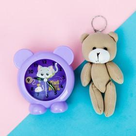 Набор «Время играть», будильник, мягкая игрушка 18 х 18 см Ош