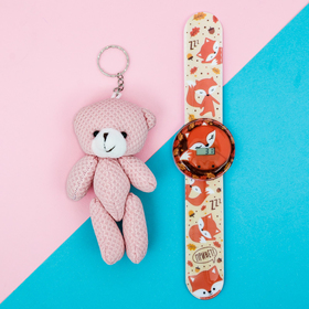 Набор «Лисичка», часы наручные, игрушка 20,8 х 25 см