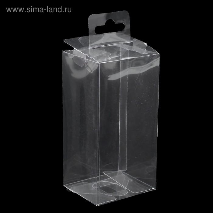 Упаковка PVC 5,5х5х11см 1шт. с подвесом, фасовка 50шт