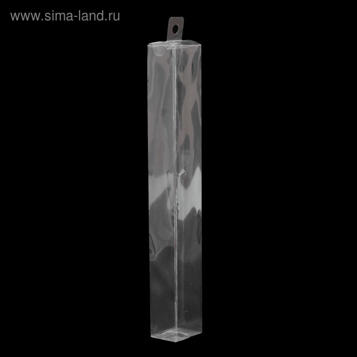 Упаковка PVC 3,5х3х25см 1шт. с подвесом, фасовка 50шт