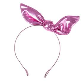 Карнавальный ободок «Бантик», цвет розовый
