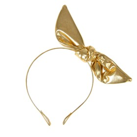 Карнавальный ободок «Бантик», цвет золотой