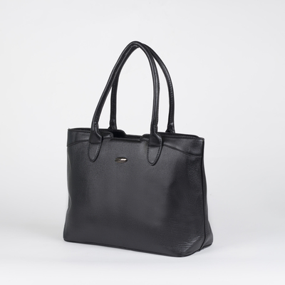 Bag, Department, partition with zip, outside pocket, black