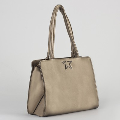 Bag, Department, partition with zip, outer pocket, Golden