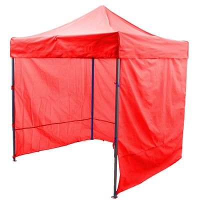 Палатка торговая 3*3, каркас складной чёрный, с молнией, цвет красный