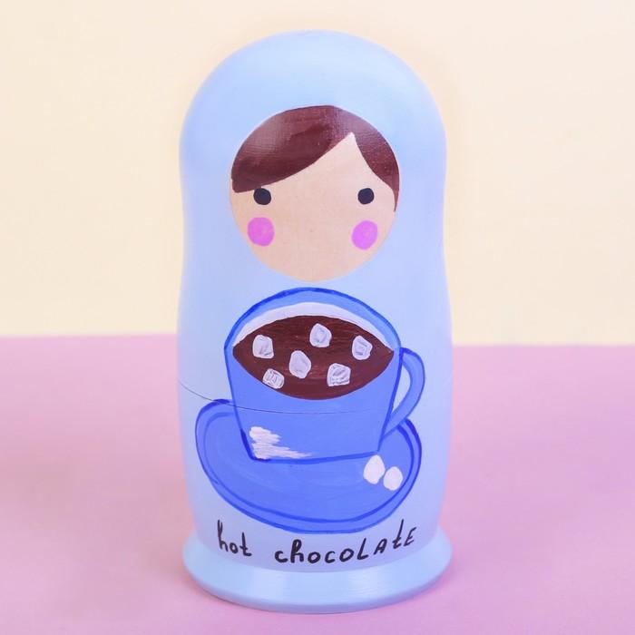 Матрёшка 5-ти кукольная «Кофейная», 16 см