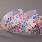 Лента репсовая «Бабочки», 25мм, 18±1м, разноцветная