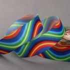 Лента репсовая «Волны», 25мм, 18±1м, разноцветная