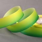 Лента репсовая «Градиент», 25 мм, 18 ± 1 м, цвет жёлтый/зелёный
