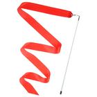 Лента гимнастическая с палочкой 4 м, цвет красный