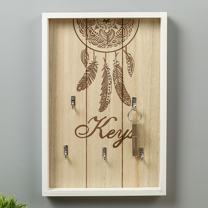 """Крючки декоративные дерево """"Ловец снов"""" 30х20х3 см"""
