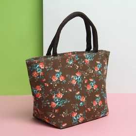 Косметичка сумка «Букет», отдел на молнии, цвет кофе Ош