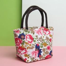 Косметичка сумка «Пионы», отдел на молнии, цвет белый Ош