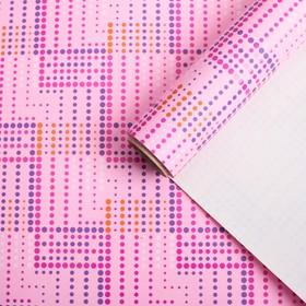 """Бумага для декорирования, """"Графика"""", розовый, 0,7 х 10 м"""